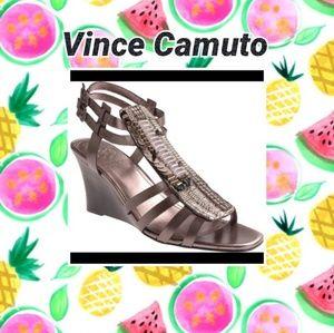 Vince Camuto Brianne Metallic Wedge Sandals